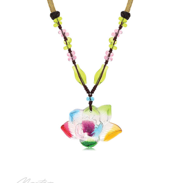 Blooming Lotus Liuli™ Feng Shui Necklace