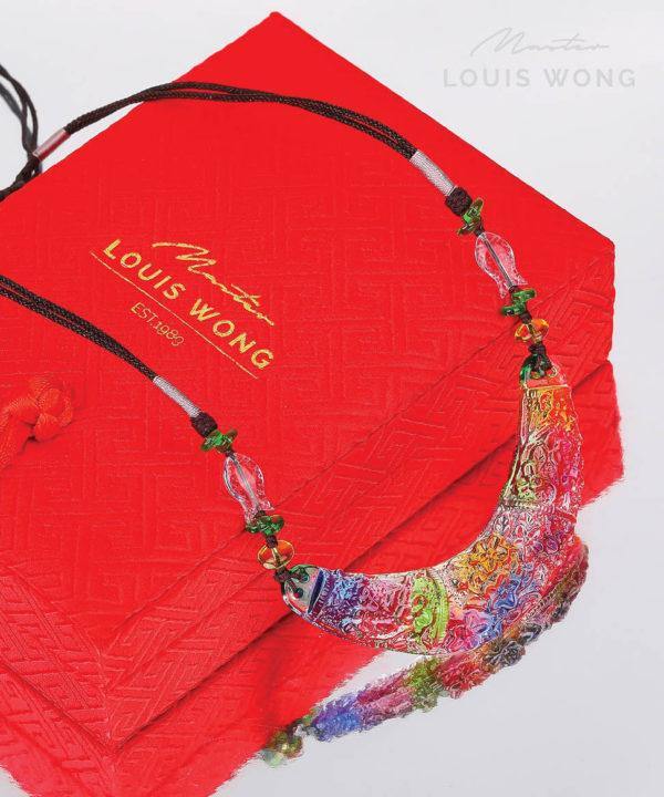 Lotus Paradise Arc Liuli™ Feng Shui Necklace
