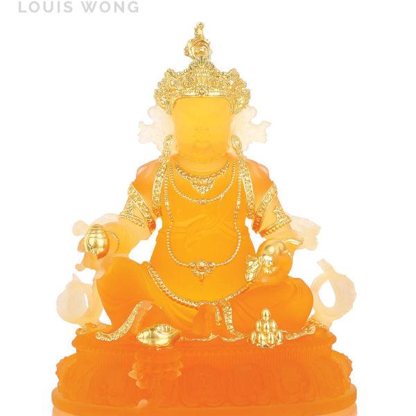 Wealth Buddha (Yellow Jambhala) Liuli™ Feng Shui Art Piece