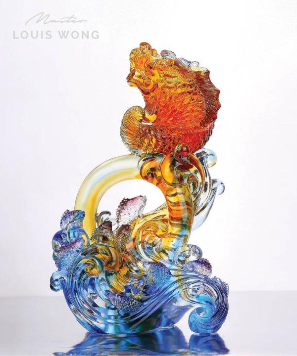 The Leaping Fish Liuli™ Feng Shui Master Art Piece