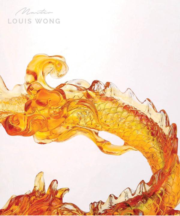 Blazing Dragon Liuli™ Feng Shui Master Art Piece