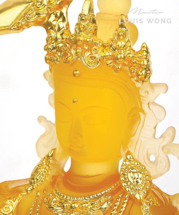 The Wisdom Magnet (Manjushri) Liuli™ Feng Shui Art Piece