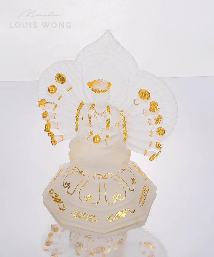 The Thousand-hands god (Avalokitesvara) Liuli™ Feng Shui Art Piece